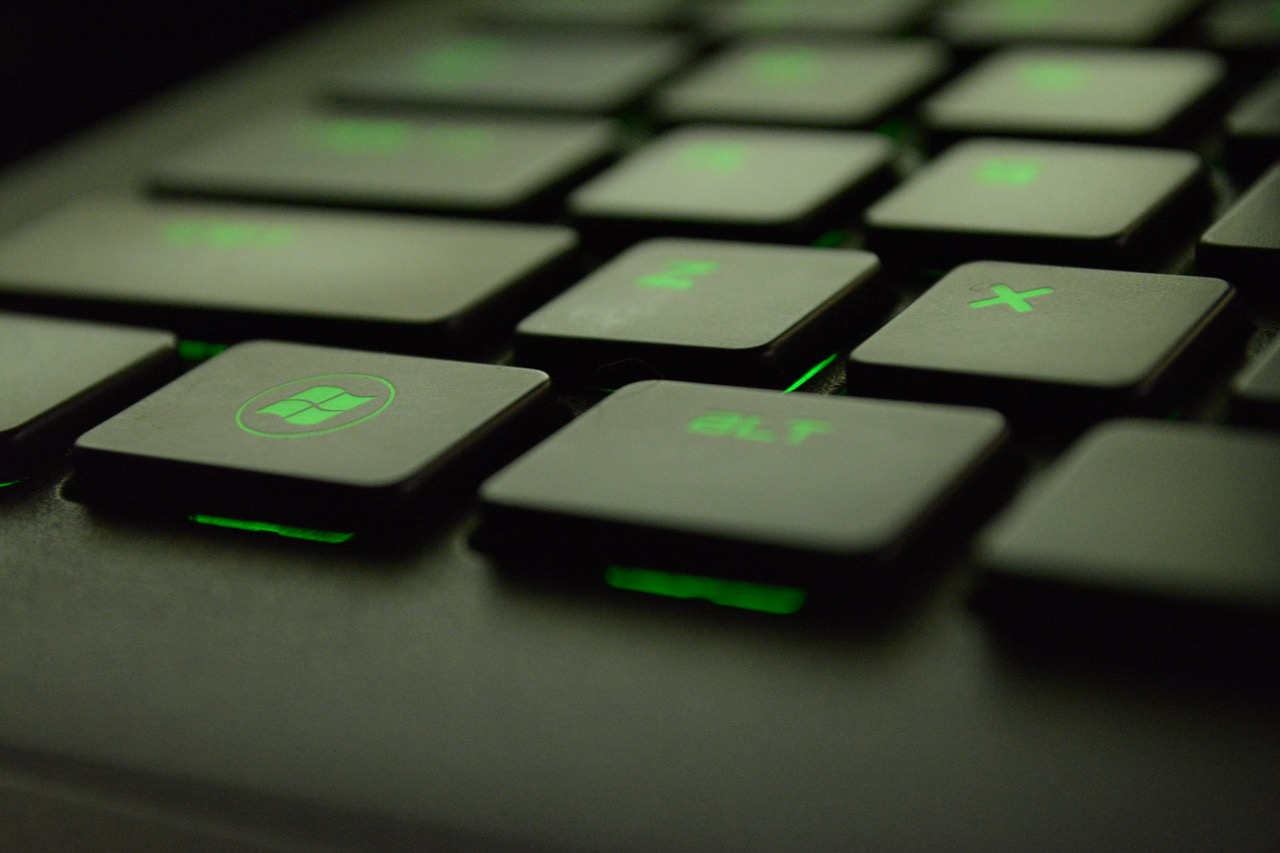 Green keyboard lights