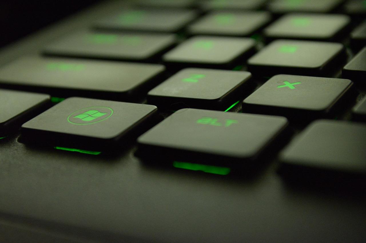 Green keyboard lights