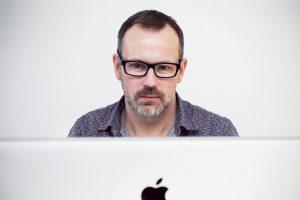 Man wearing glasses